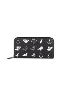 Prada Men's Zip-Around Leather Wallet - Black