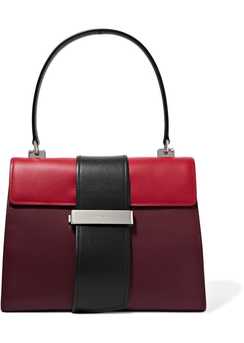 cc6c62754724 SALE! Prada Prada Metal Ribbon color-block leather tote