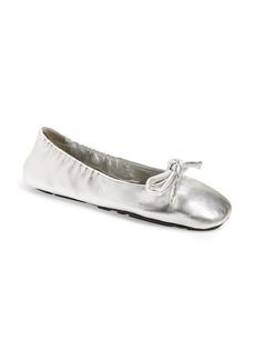 Prada Metallic Ballet Flat (Women)