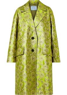Prada Metallic Brocade Coat