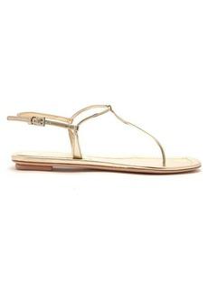 Prada Metallic-leather sandals