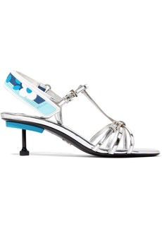 Prada Metallic Leather Slingback Sandals