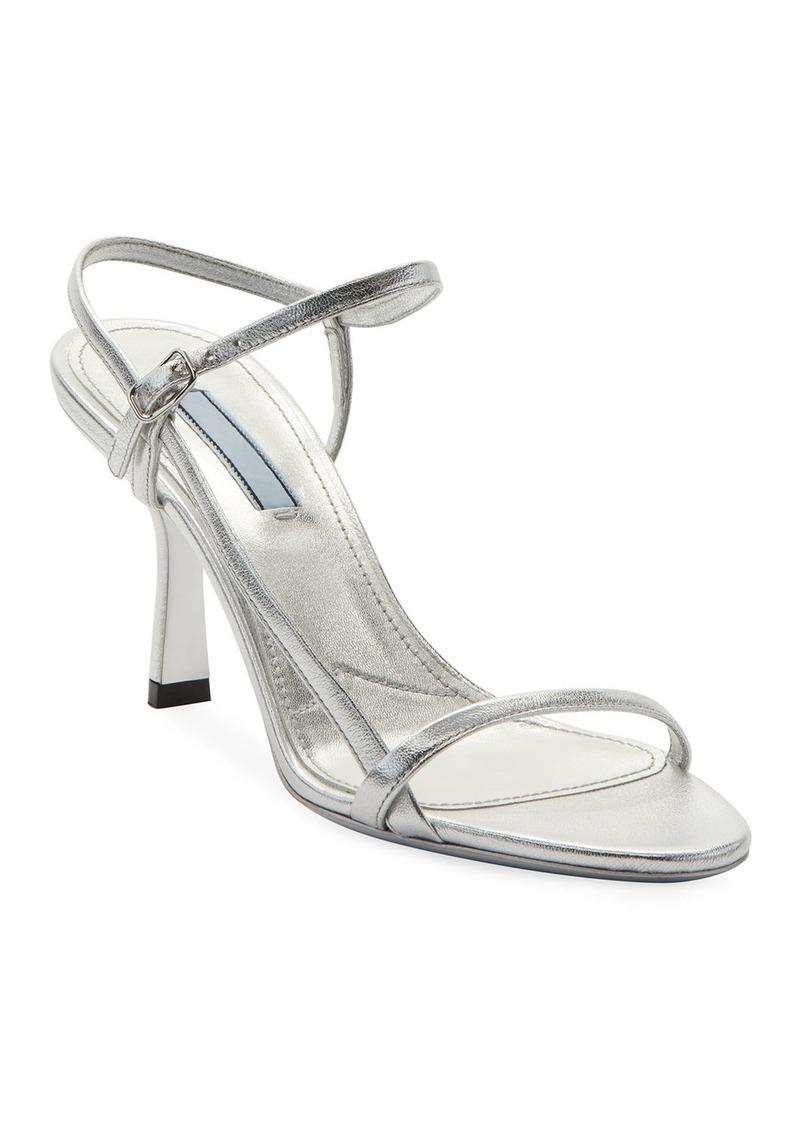 Prada Metallic Strappy 75mm Sandals