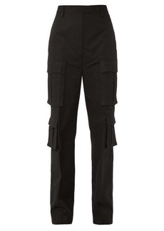 Prada Mid-rise cotton-poplin cargo trousers