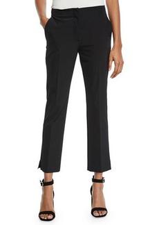 Prada Mid-Rise Flat-Front Straight-Leg Cropped Pants