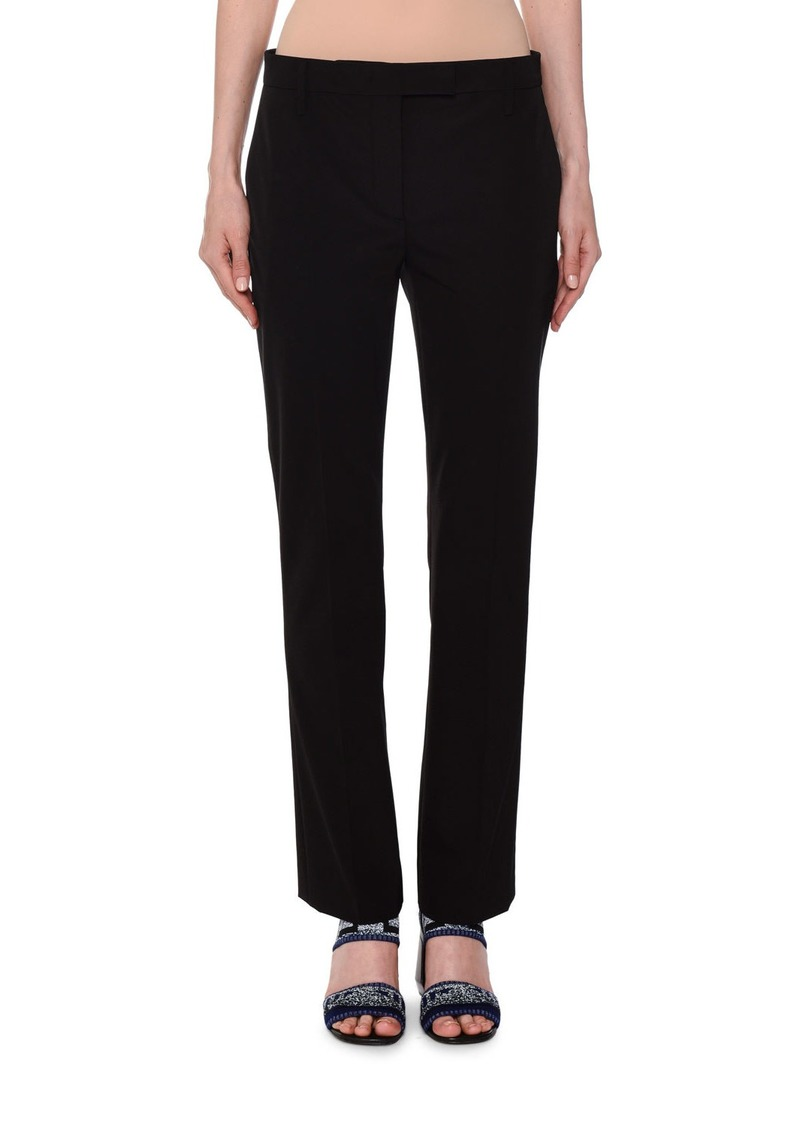 Prada Mid-Rise Straight Leg Techno-Stretch Pants
