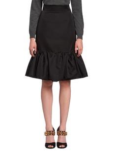 Prada Mikado Godet Pencil Skirt