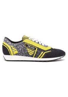 Prada Milano jacquard-knit low-top trainers
