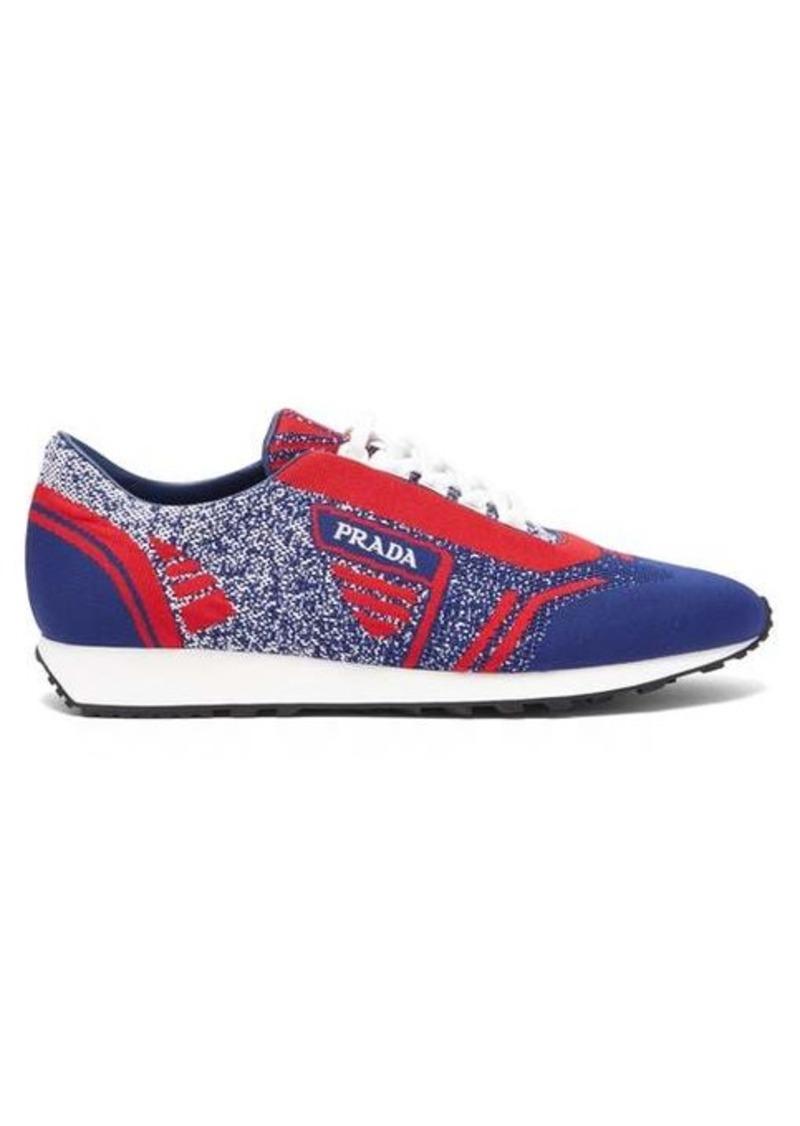 Prada Milano jacquard-knit low-top trainers