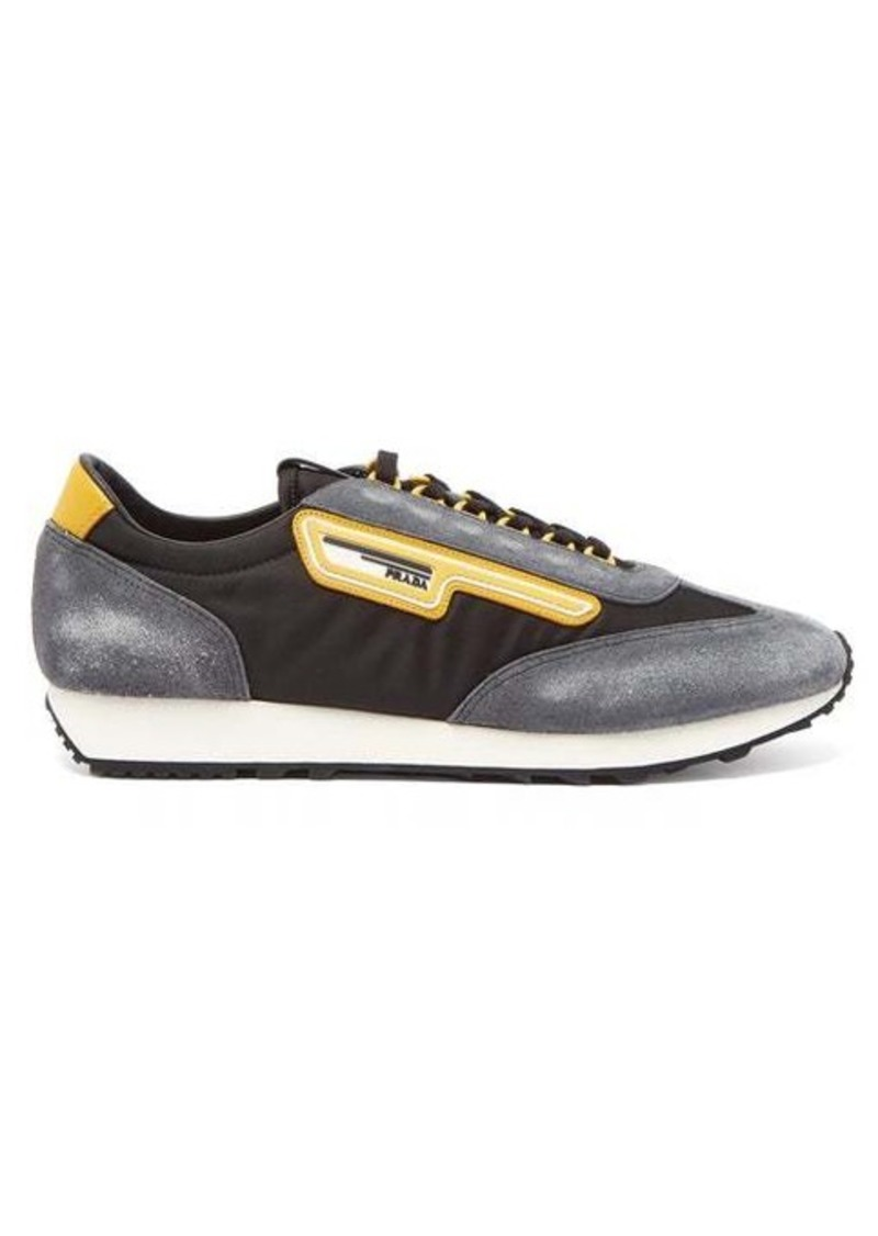 Prada Milano low-top nylon and suede trainers