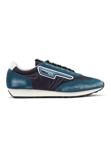 Prada Milano nylon and suede trainers
