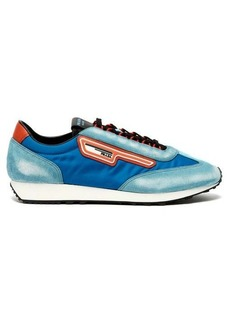 Prada Milano suede and nylon low-top trainers