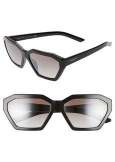 Prada Millennial 57mm Octagon Sunglasses