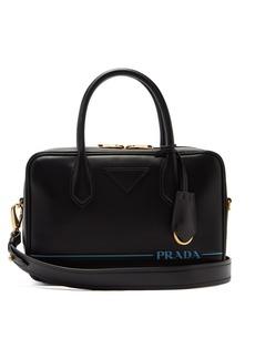 Prada Mirage leather bowling bag
