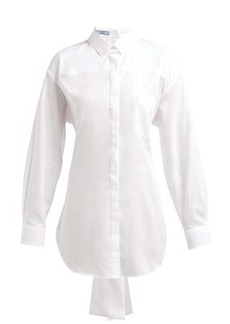 Prada Mirrored cotton-poplin shirt