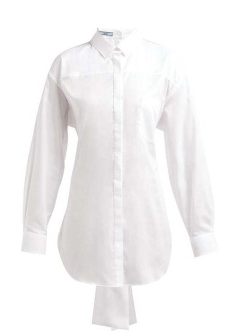 Prada Mirrored cotton-poplin shirt