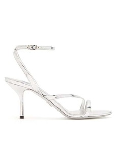 Prada Mirrored-leather sandals