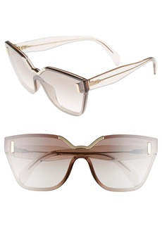 Prada 61mm Mirrored Shield Sunglasses