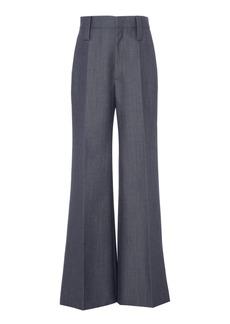 Prada Mohair-Blend Wide-Leg Pants