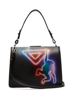 Prada Monkey-print leather cross-body bag