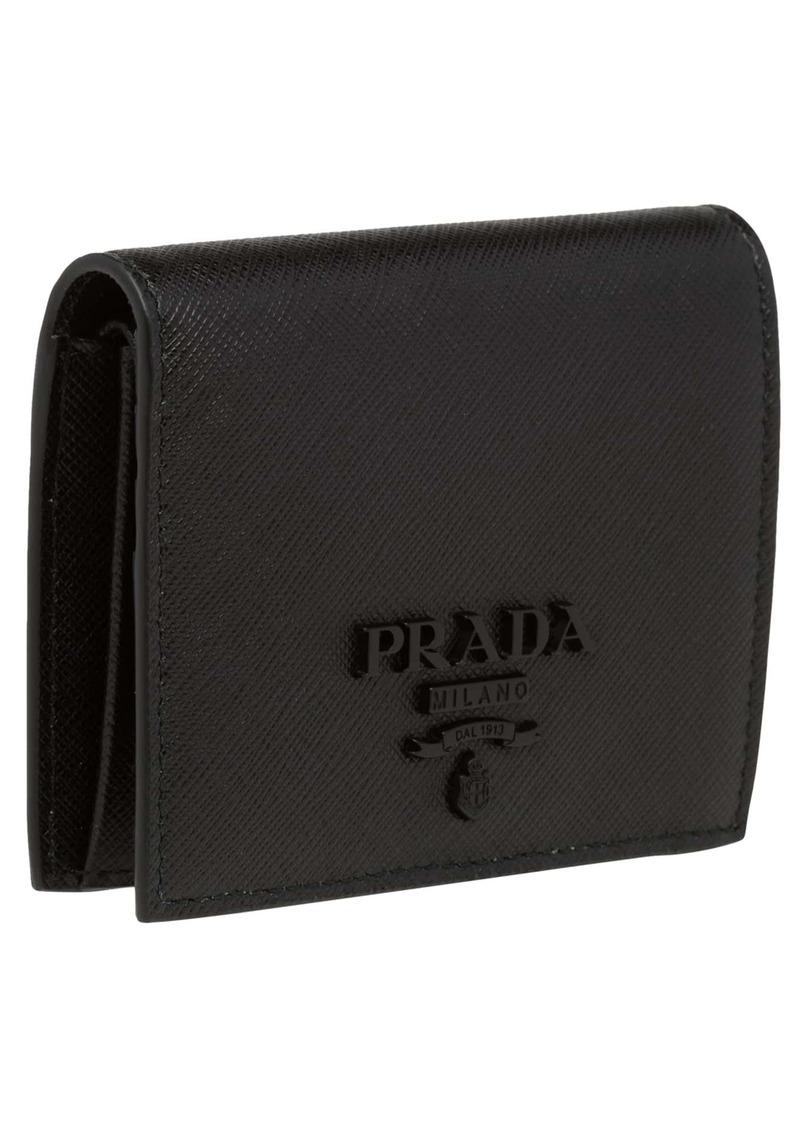 0d1c38713a23 Prada Prada Monochromatic Logo Saffiano Leather Wallet | Handbags