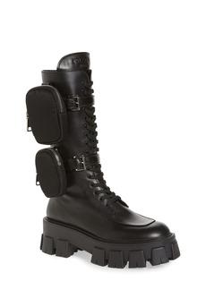 Prada Monolith Mini Bag Knee High Boot (Women)