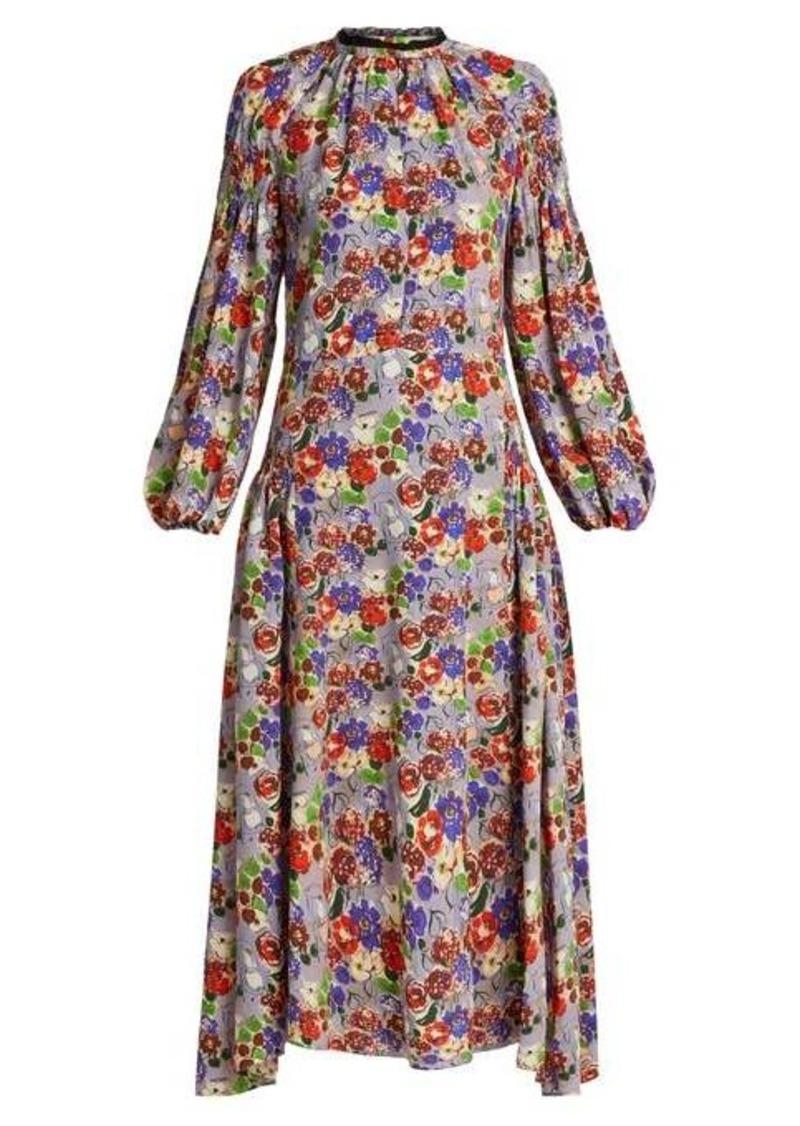 Prada Morocaine Primrose floral-print silk dress