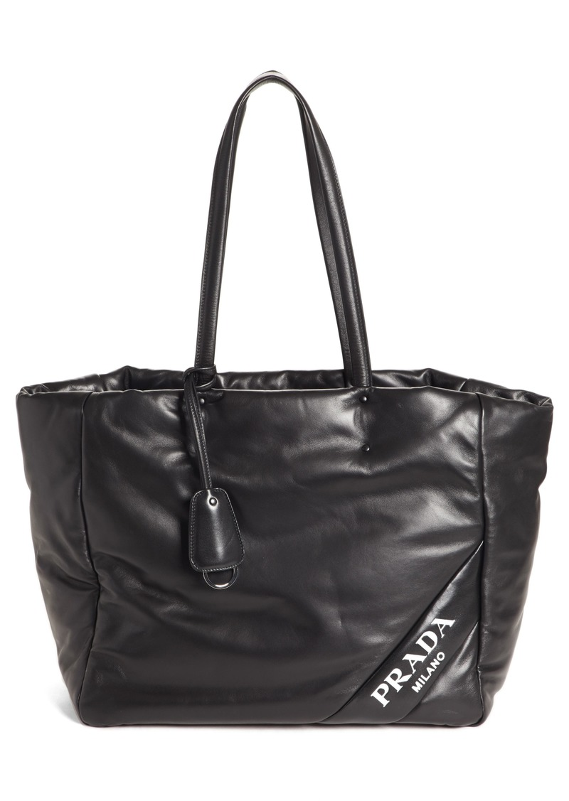 fabd3ecbf7 ... low cost prada nappy calfskin leather tote c2e53 c6d45