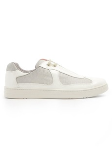 Prada New America's Cup low-top patent-leather trainers