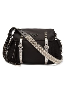 Prada New Vela leather trimmed cross-body bag