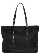 Prada Stud Nylon Shopper