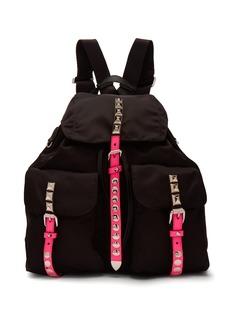 Prada New Vela studded nylon backpack