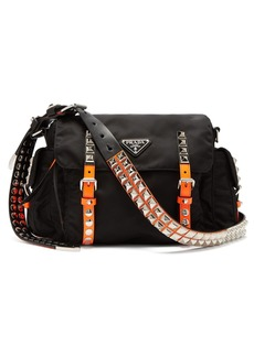 Prada New Vela studded nylon shoulder bag