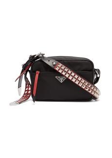 Prada New Vela studded nylon shoulder bag