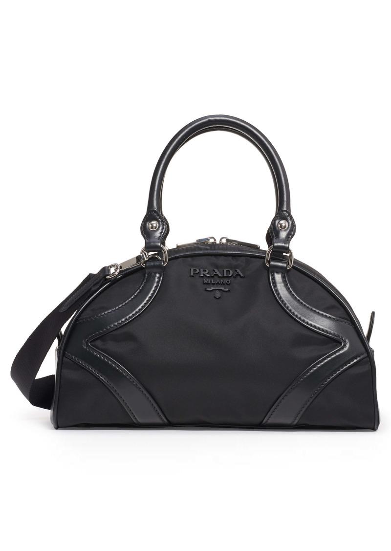 Prada Nylon & Leather Satchel