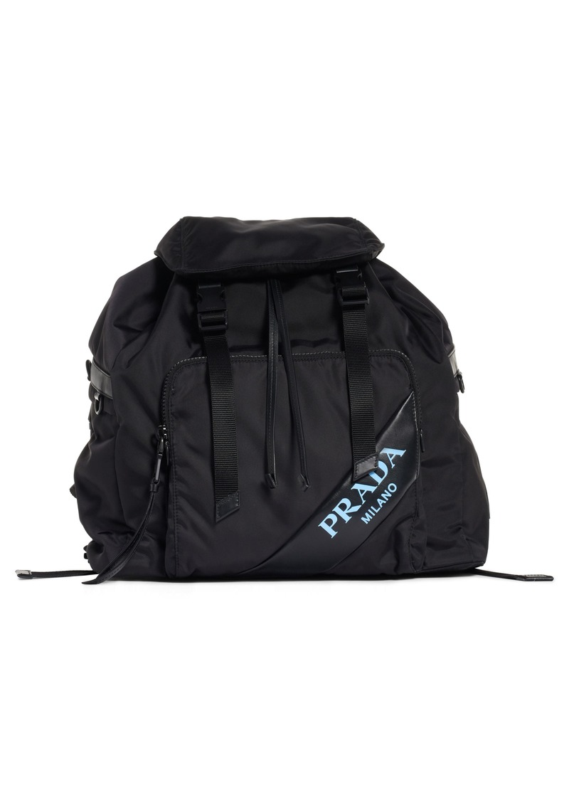 e7d4951cba Prada Prada Tessuto   Calfskin Leather Backpack
