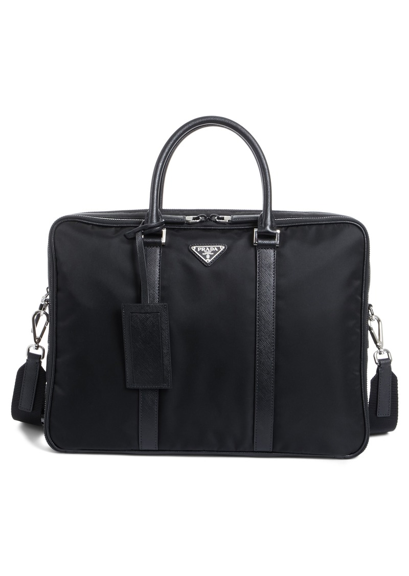 9cdcbe0de25d Prada Prada Nylon Briefcase with Saffiano Leather Trim | Bags