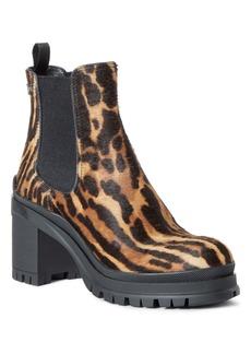 Prada Ocelot Print Genuine Calf Hair Chelsea Boot (Women)