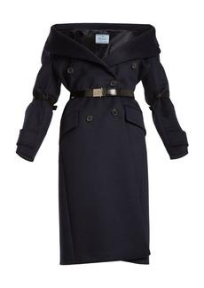 Prada Off-the-shoulder wool-blend coat