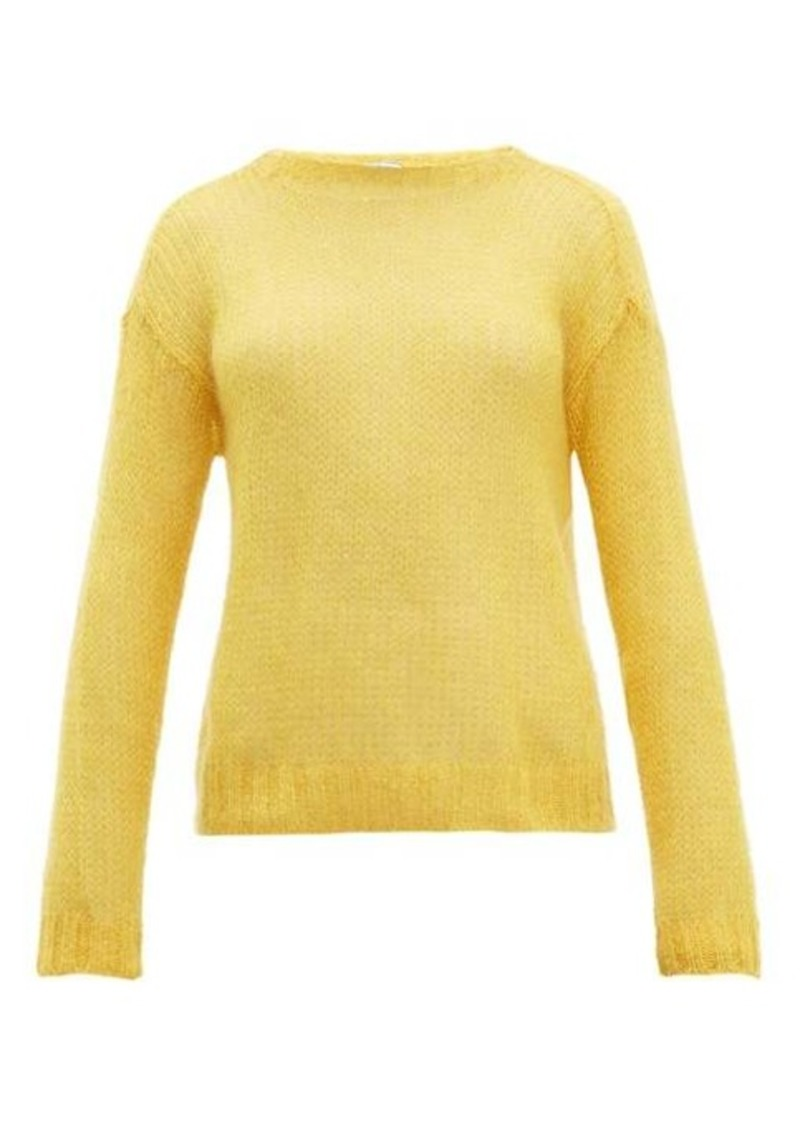 Prada Open-knit mohair-blend sweater