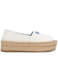 Prada open-toe flatform espadrilles - White
