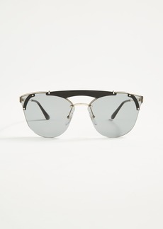 Prada Ornate Aviator Sunglasses