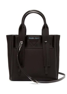 Prada Ouverture nylon and leather tote bag
