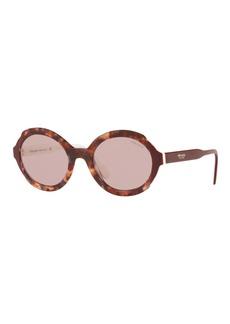Prada Oval Acetate Sunglasses