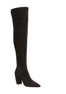 Prada Over the Knee Block Heel Boot (Women)