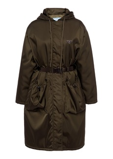 Prada Oversized Belted Tech-Nylon Coat