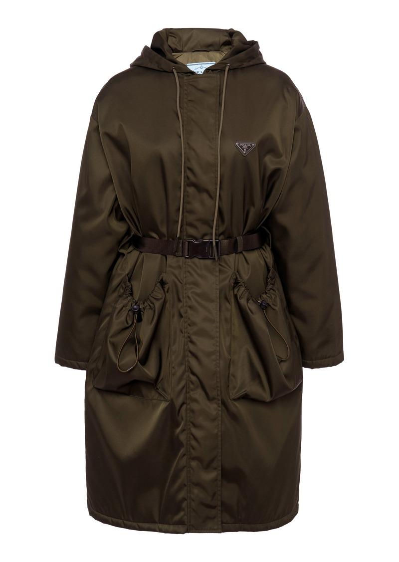 Prada Oversized Belted Tech-Nylon Coat