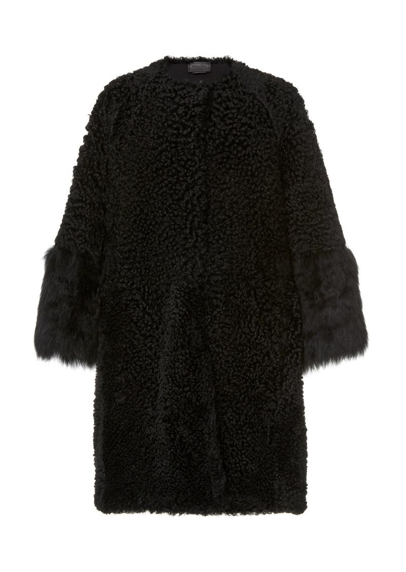 Prada Oversized Fur Evening Coat