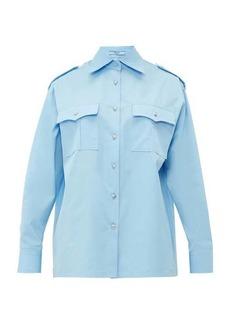 Prada Oversized patch-pocketed cotton-poplin shirt