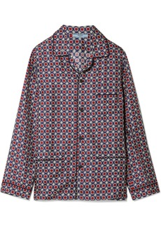 Prada Oversized Printed Silk-satin Twill Shirt